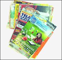 Produits et prestations réalisées en Flowpack, conditionnement de magazine, barquettes, DVD's, ESAT ETAI Jacques Henry, Vitry Sur Seine, IDF